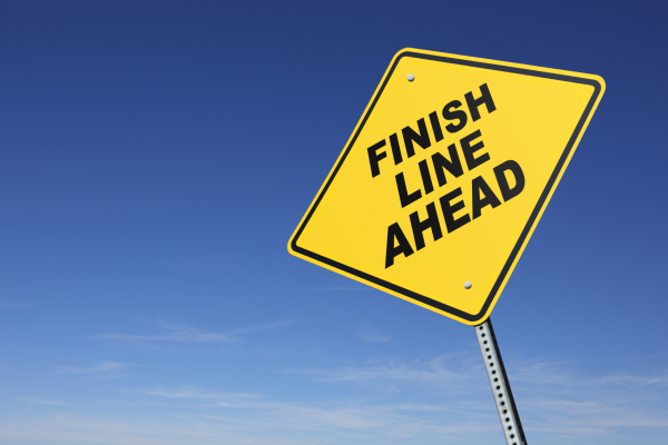 "Sign of a ""finish line ahead"""